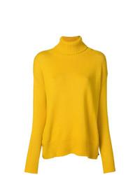 Jersey de cuello alto de punto amarillo de Etro