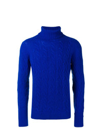 Jersey de cuello alto de punto azul de Drumohr