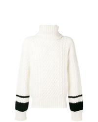 Jersey de cuello alto de punto blanco de Haider Ackermann
