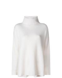 Jersey de cuello alto de punto blanco de Le Kasha