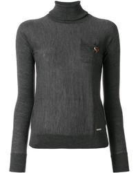 Jersey de cuello alto de punto en gris oscuro de Dsquared2