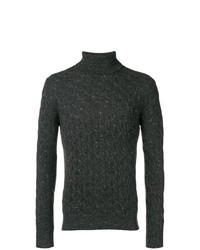Jersey de cuello alto de punto en gris oscuro de Eleventy