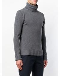 Jersey de cuello alto de punto en gris oscuro de Fortela