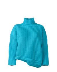 Comprar un jersey de cuello alto de punto en turquesa