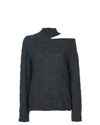 Jersey de Cuello Alto de Punto Gris Oscuro de RtA