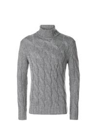 Jersey de cuello alto de punto gris de Dell'oglio