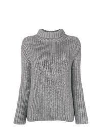 Jersey de cuello alto de punto gris de Ermanno Scervino