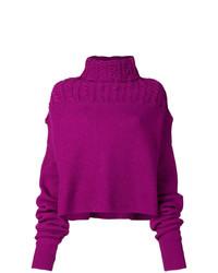 Jersey de cuello alto de punto morado de Unravel Project