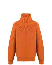 Jersey de cuello alto de punto naranja de Tom Ford