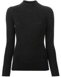 Jersey de cuello alto de punto negro de Courreges