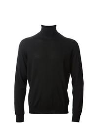 Jersey de cuello alto de punto negro de Drumohr