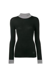 Jersey de cuello alto de punto negro de Loewe