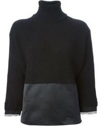 Jersey de cuello alto de punto negro de No.21