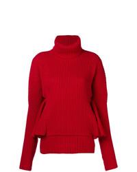 Jersey de cuello alto de punto rojo de Antonio Berardi