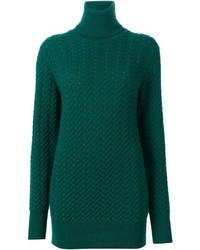 Jersey de cuello alto de punto verde de Dolce & Gabbana