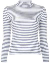 Jersey de cuello alto de rayas horizontales blanco de Golden Goose Deluxe Brand
