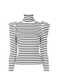 Jersey de cuello alto de rayas horizontales en blanco y negro de A.L.C.