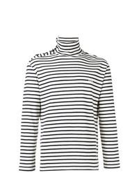 Jersey de cuello alto de rayas horizontales en blanco y negro de Loewe