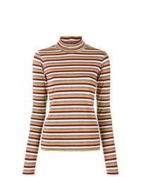 Jersey de cuello alto de rayas horizontales en multicolor de Antonio Marras