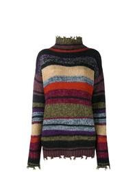 Jersey de cuello alto de rayas horizontales en multicolor de Etro