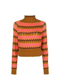 Jersey de cuello alto de rayas horizontales en multicolor de M Missoni