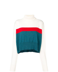Jersey de cuello alto de rayas horizontales en multicolor de Marios