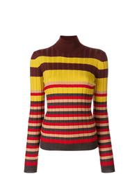 Jersey de cuello alto de rayas horizontales en multicolor de Marni
