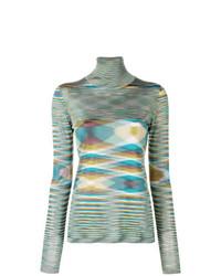 Jersey de cuello alto de rayas horizontales en multicolor de Missoni