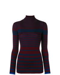 Jersey de cuello alto de rayas horizontales en multicolor de Victoria Victoria Beckham