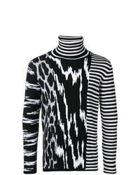 Jersey de cuello alto de rayas horizontales en negro y blanco de Givenchy