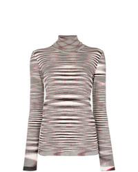 Jersey de cuello alto de rayas horizontales en negro y blanco de Missoni