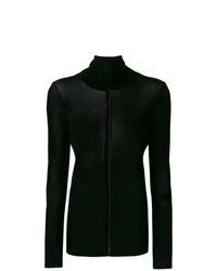 Jersey de cuello alto de terciopelo negro