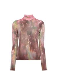 Jersey de cuello alto efecto teñido anudado rosado de Ambush