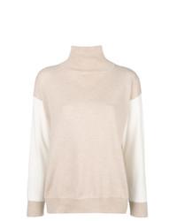Jersey de cuello alto en beige de Agnona