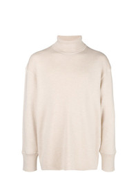 Jersey de cuello alto en beige de Jil Sander