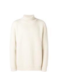 Jersey de cuello alto en beige de Maison Margiela