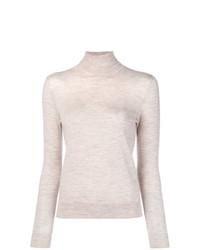 Jersey de cuello alto en beige de N.Peal