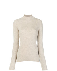 Jersey de cuello alto en beige de Pringle Of Scotland