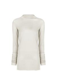 Jersey de cuello alto en beige de Rick Owens Lilies