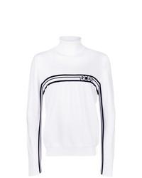 Jersey de cuello alto en blanco y negro de Gcds