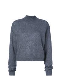Jersey de cuello alto en gris oscuro de Adam Lippes