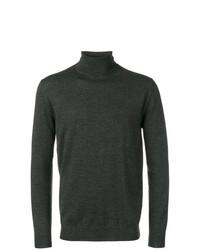 Jersey de cuello alto en gris oscuro de Cruciani
