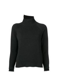 Jersey de cuello alto en gris oscuro de Helmut Lang