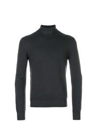 Jersey de cuello alto en gris oscuro de La Fileria For D'aniello