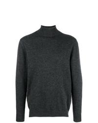 Jersey de cuello alto en gris oscuro de N.Peal