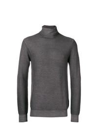 Jersey de cuello alto en gris oscuro de Paolo Pecora