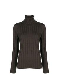 Jersey de cuello alto en marrón oscuro de Aspesi