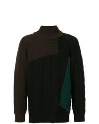 Jersey de cuello alto en marrón oscuro de Kolor