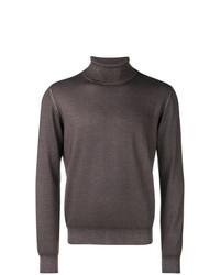 Jersey de cuello alto en marrón oscuro de Tagliatore