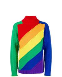Jersey de cuello alto en multicolor de Burberry